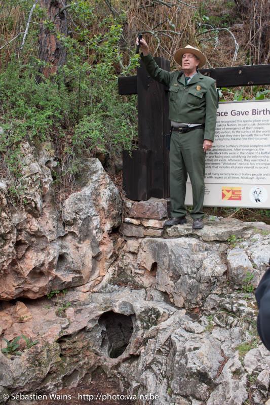 Le premier accès dans Wind Cave